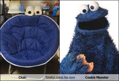 chair,Cookie Monster,furniture,puppets,Sesame Street