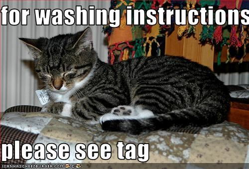 for washing instructions  please see tag