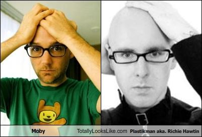 Moby Totally Looks Like Plastikman aka. Richie Hawtin