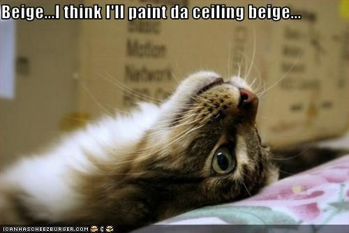 Beige...I think I'll paint da ceiling beige...