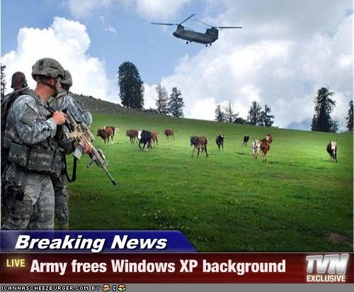 Breaking News - Army frees Windows XP background