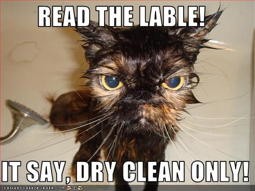 READ THE LABLE!    IT SAY, DRY CLEAN ONLY!