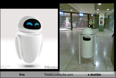 Eve Totally Looks Like a dustbin
