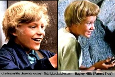 Charlie (and the Chocolate Factory) Totally Looks Like Hayley Mills (Parent Trap)