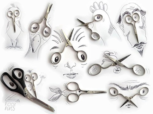 Artsy Fart of the Day: Everyday Objects Turned Into Creative Illustrations