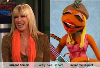 Suzanne Somers Totally Looks Like Janice the Muppet