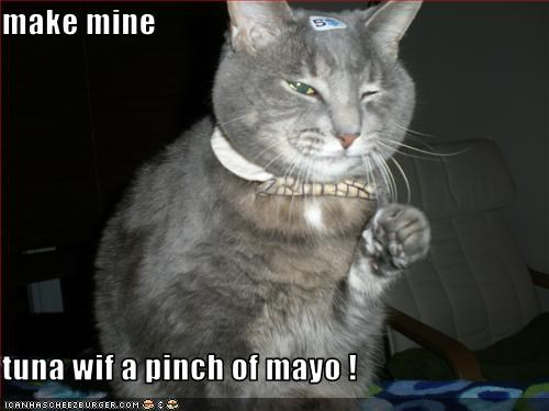 make mine  tuna wif a pinch of mayo !