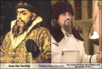 Ivan the Terrible Totally Looks Like Igor Karkaroff from Harry Potter and the Goblet of Fire