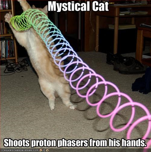 Shoots proton phasers from his hands.