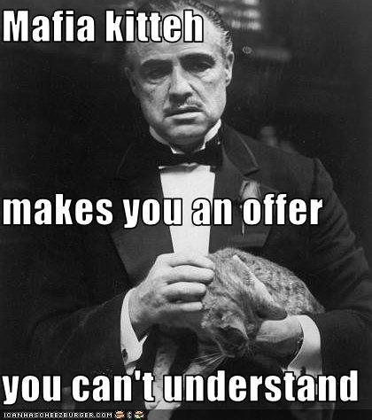 lolcats,mafia,Marlon Brando,movies,the godfather