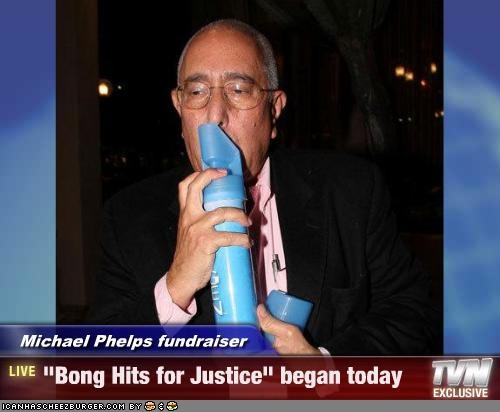 "Michael Phelps fundraiser - ""Bong Hits for Justice"" began today"