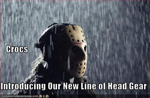 crocs,friday the 13th,hockey,horror,movies