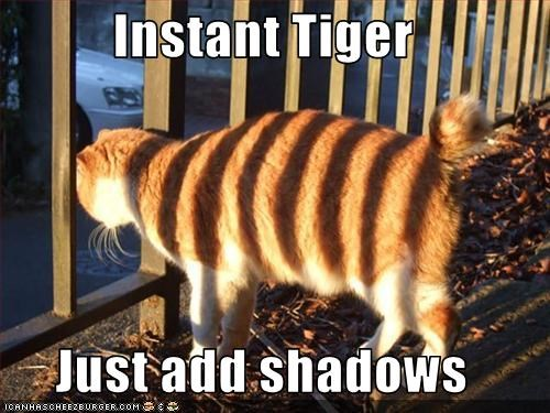 Instant Tiger  Just add shadows