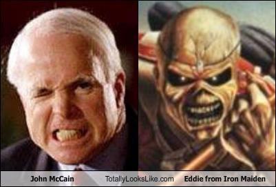 John McCain Totally Looks Like Eddie from Iron Maiden