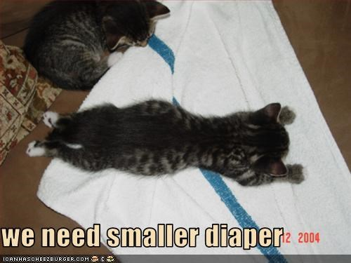 we need smaller diaper