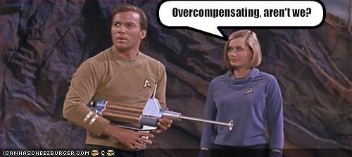 Captain Kirk,guns,sci fi,Star Trek,William Shatner