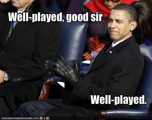 Well sir, good played!