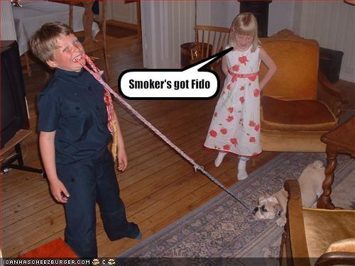 Smoker's got Fido