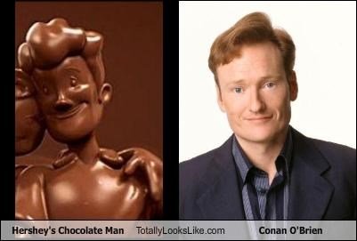 Hershey's Chocolate Man Totally Looks Like Conan O'Brien