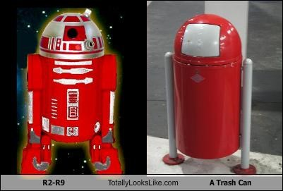 R2-R9 Totally Looks Like A Trash Can