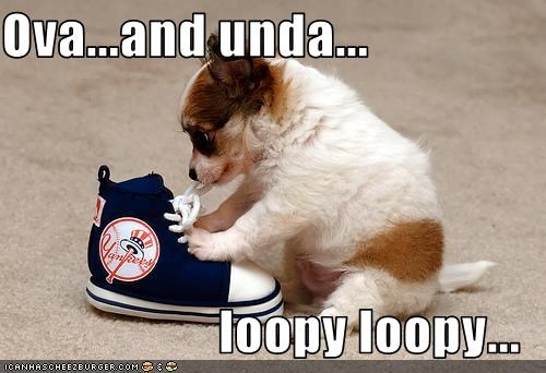 Ova...and unda...  loopy loopy...