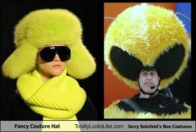 Fancy Couture Hat Totally Looks Like Jerry Seinfeld's Bee Costume