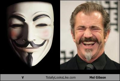 V Totally Looks Like Mel Gibson