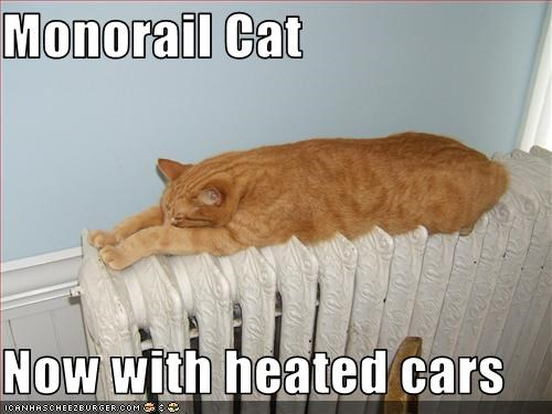 Monorail Cat Now with heated cars
