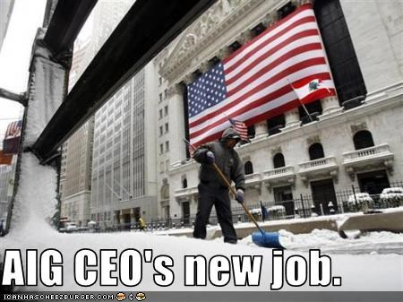 AIG CEO's new job.
