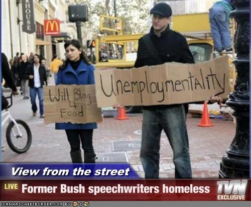 View from the street - Former Bush speechwriters homeless