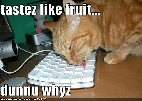 tastez like fruit...  dunnu whyz
