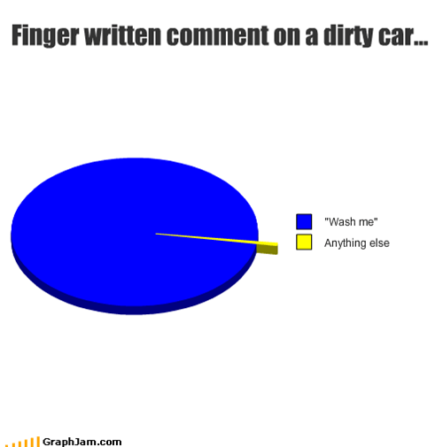 Finger written comment on a dirty car...