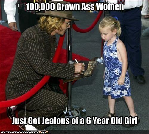 autographs,jealousy,Johnny Depp,movies,women