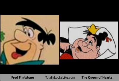 Fred Flintstone Totally Looks Like The Queen of Hearts