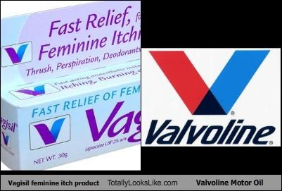 Vagisil feminine itch product Totally Looks Like Valvoline Motor Oil