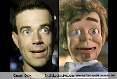 Carson Daly Totally Looks Like Dummy from Sprint Commercials