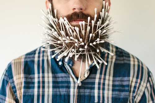 Single Topic Blog of the Day: 'Will It Beard' Features Photos of a Man With Objects Stuck in His Beard