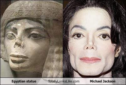 Egyptian statue Totally Looks Like Michael Jackson