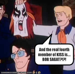 And the real fourth member of KISS is.... BOB SAGAT?!?!