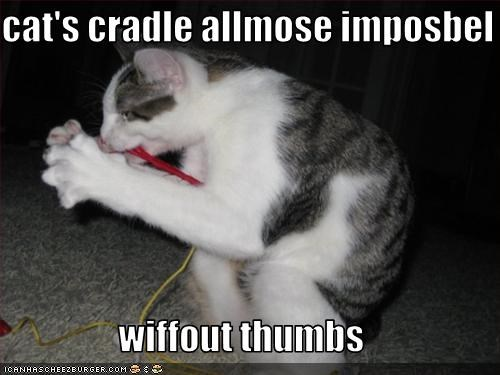 cat's cradle allmose imposbel  wiffout thumbs
