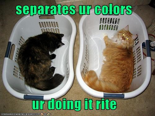separates ur colors  ur doing it rite
