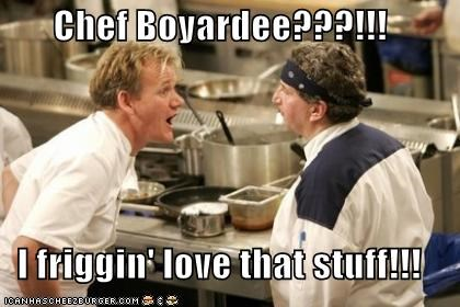 Chef Boyardee???!!!  I friggin' love that stuff!!!