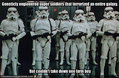Geneticly engineered super soldiers that terrorized an entire galaxy.
