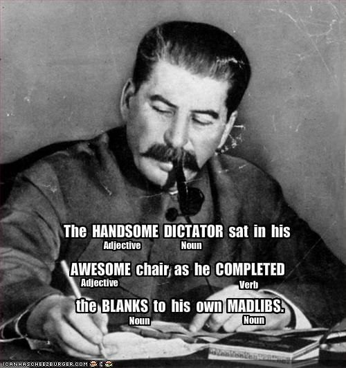 The  HANDSOME  DICTATOR  sat  in  his