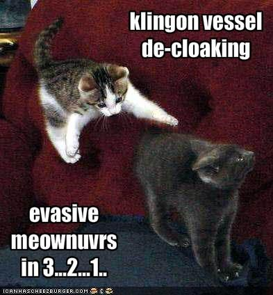 klingon vessel de-cloaking