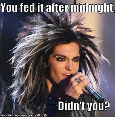 Bill Kaulitz,food,gremlins,Music,Tokio Hotel