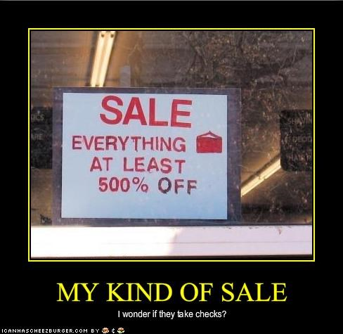 MY KIND OF SALE