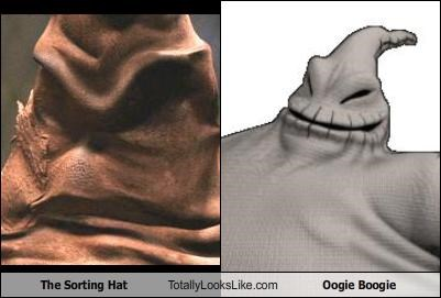 The Sorting Hat Totally Looks Like Oogie Boogie