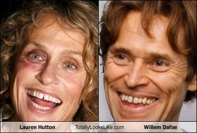Lauren Hutton Totally Looks Like Willem Dafoe