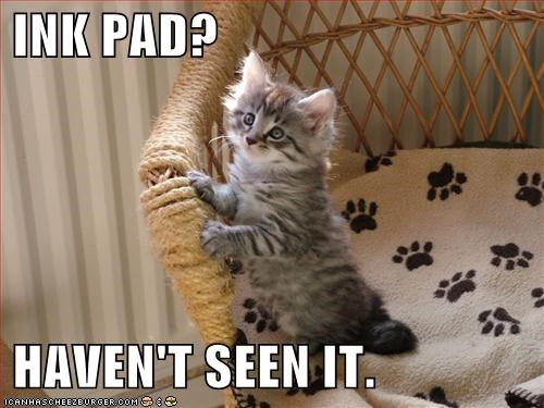 INK PAD?   HAVEN'T SEEN IT.